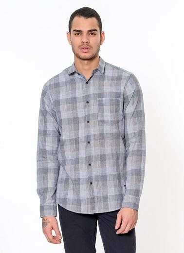 Lee Cooper Kareli Uzun Kollu Gömlek Antrasit